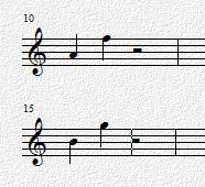 音乐五线谱小六度怎么画