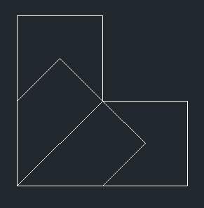 一个由三个正方形组成的多边形,要将它分成4部分,应怎样分?这张图.图片