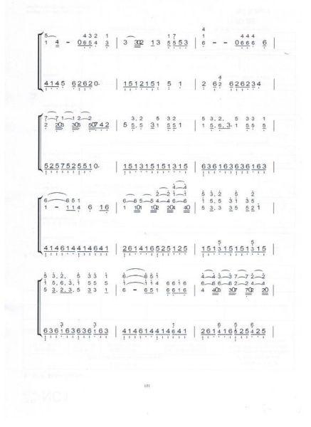 求吴亦凡有一个地方的数字钢琴谱!谢了图片