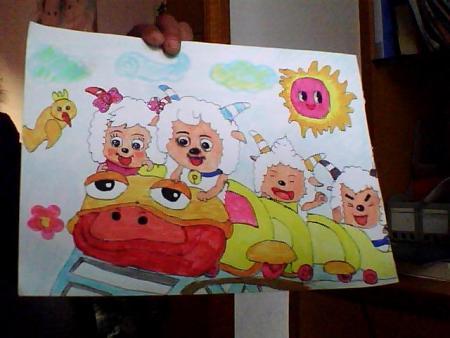 小学四年级的绘画作品图片