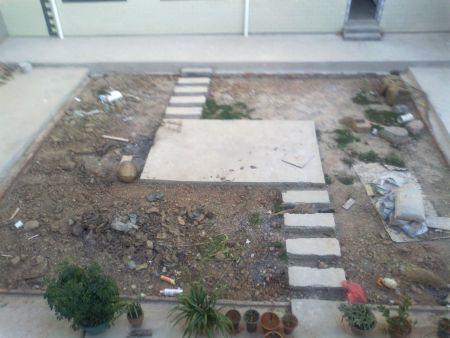 希望有假山,有鱼池,有树木绿化,亭阁.庭院:8.8米,宽7.7米.图片