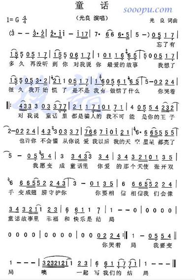 童话钢琴简谱,要数字,双手弹的那种!谢谢,左手伴奏的!