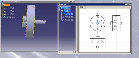 catia工程图画出来和三维图上的尺寸不一样.图片