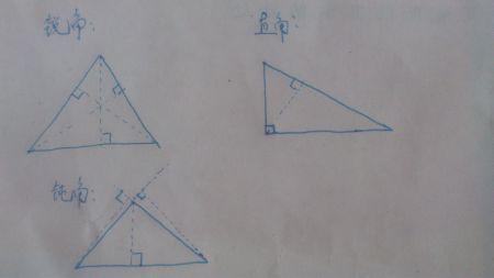 一个三角形怎样画出三个高图片