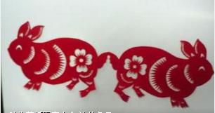 动物对称剪纸图案大全图片