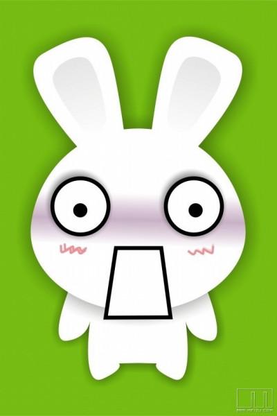 超萌可爱卡通小兔子表情图片