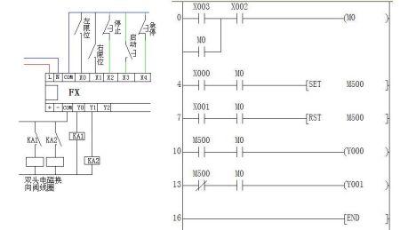 设计电路来控制气缸的往复运动(最简单的往复运动),求接线图和电路图图片