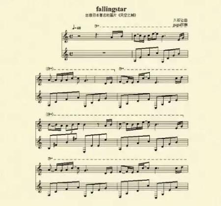 谁有天空之城钢琴谱?我要图片