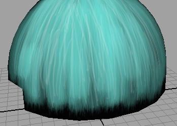 maya头发透明贴图 在做完头发面片模型后 如何在ps里图片