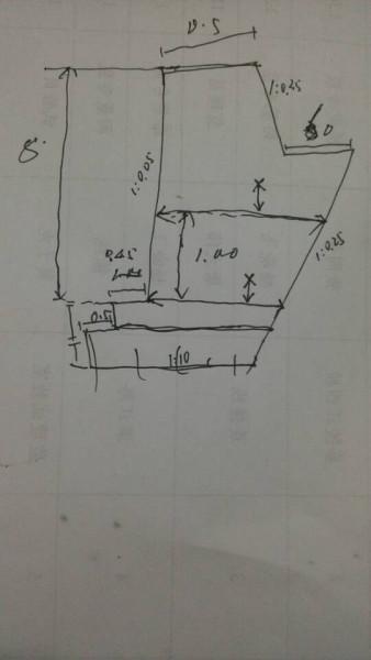 衡重式挡土墙的宽度如何计算?图片