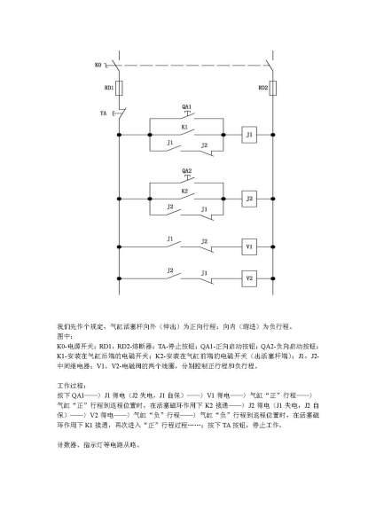 磁性开关加继电器加电磁阀加计数器如何实现对气缸往复运动的控制及图片