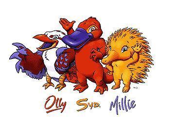 求2000年悉尼奥运会的吉祥物.图片