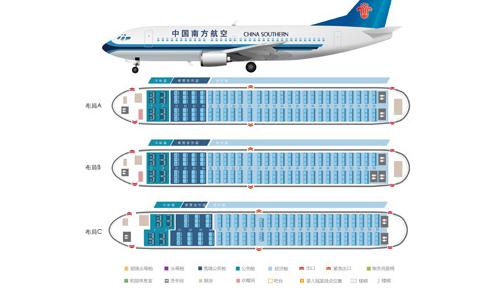 波音737座位分布图