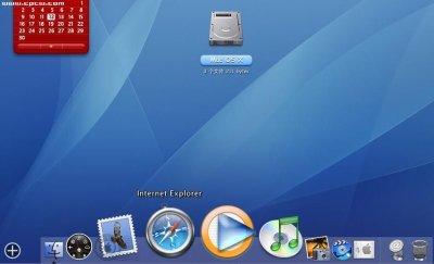 win7系统桌面图标怎么弄出像苹果那样的效果,有什么软件吗 发图片