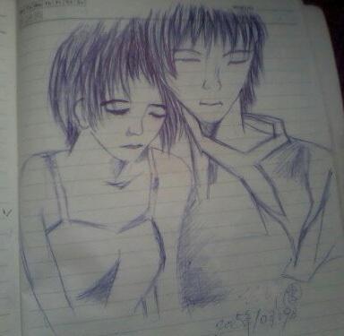 情侣图画铅笔画