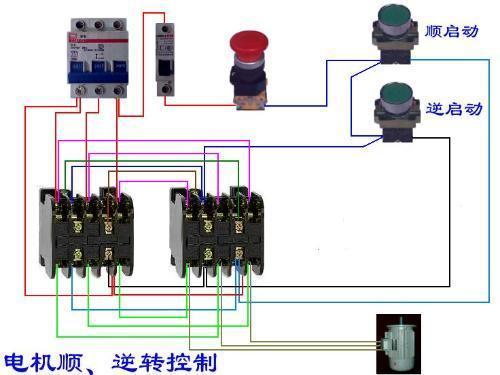 三相电机正反转控制实际接线图-单相,三相交流异步电动机如何实现图片