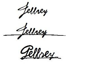 我的英文名是jeffrey 请帮忙设计个性签名图片