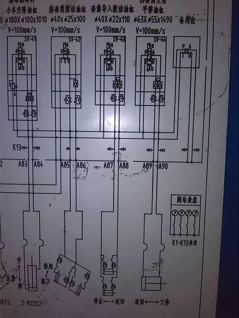 液压进出口调速回路并联两个流量阀图片