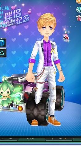 qq飞车 男 买时尚紫韵下装,还是潮酷炫黑套装 高清图片