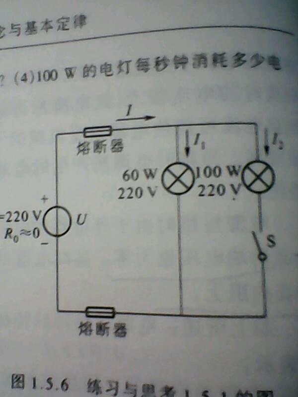 如图求⑴试求开关S闭合前后电路中的电流I1I2
