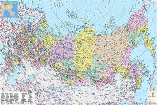 俄罗斯地理地图