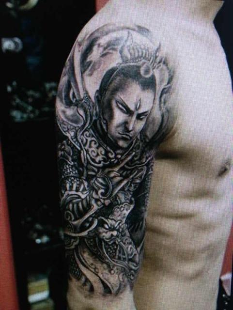 谁有二郎神纹身原图图片