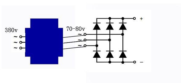 三相直流电焊机怎么接线图片