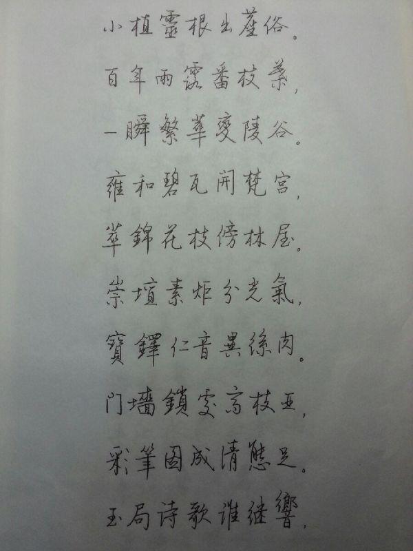 大学生字丑,想练字求推荐字帖和方法(钢笔字)图片