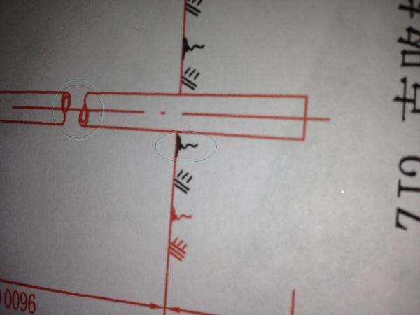 CAD圆柱断面接口怎么画 附图图片