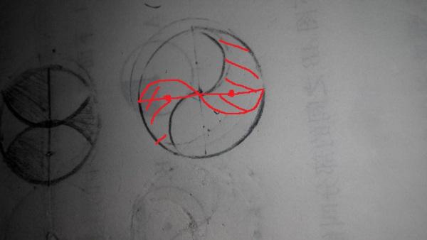 谁能用圆规画这个图形