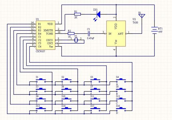 求Altium designer简单电路图图片