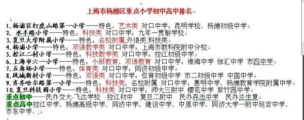 上海市杨浦区重点小学马上高中接吻?高中孩子排名早恋会初中吗出现图片