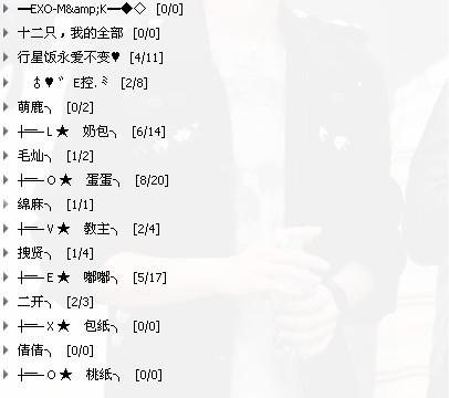关于exo12只的qq分组,15组图片