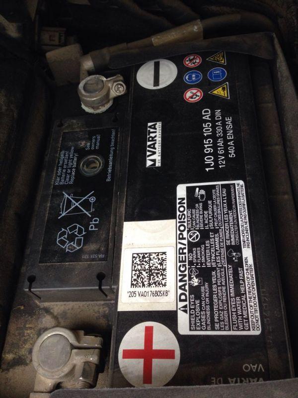 大众高尔夫1.9TDI 电池更换问题 原装的是VARTA 12V 61AH 330A Din 高清图片
