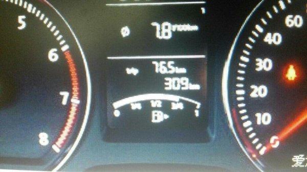 大众朗逸车1.6手动挡车型油表怎么看 高清图片