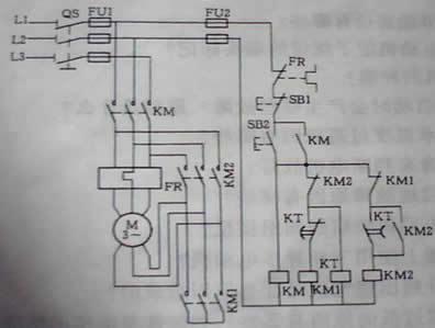 电动机星三角接线图 电动机正反接线图 电动机接触器接线图 电动机软