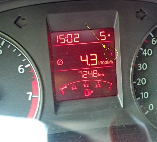 大众汽车仪表盘图标的1和2什么含义高清图片