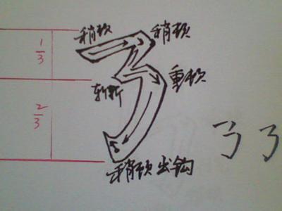 笔画横撇弯钩怎么写