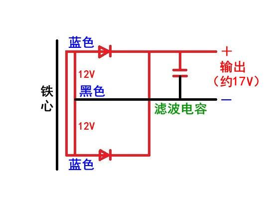 我有一个12v 2的变压器一个12v汽车低音炮我不知道怎么接,高清图片
