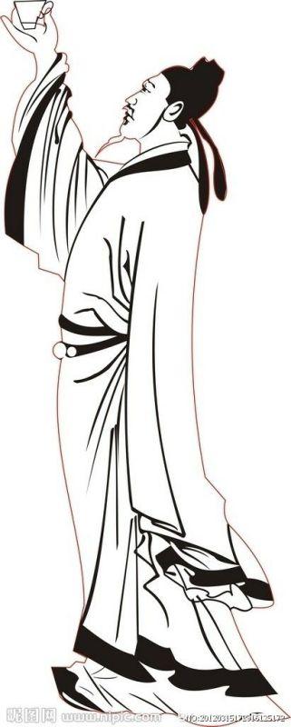李白人物简笔画