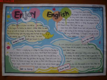 英语手抄报图片简单又漂亮