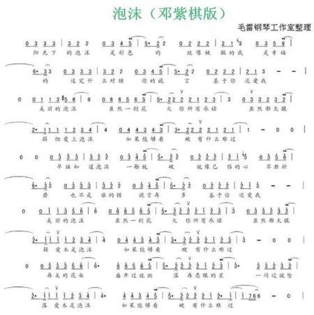 我好想你简谱钢琴 数字分享展示图片