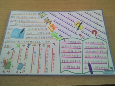 选一幅画,数学小报的内容可以在三年级数学书上抄一点图片