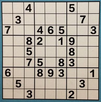 每一行每一列的数字都不能有重复,每个小九宫格内数字也不能重复.图片