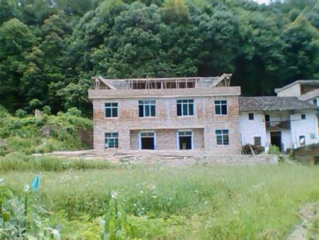 2层半农村房子外墙用什么颜色的瓷砖 高清图片
