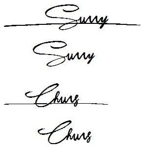 英文名sunny和chung,请大师帮忙设计签名
