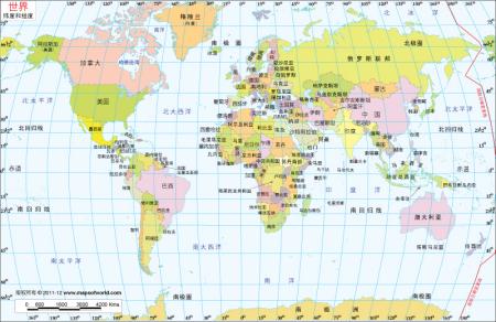 经纬_世界经纬地图