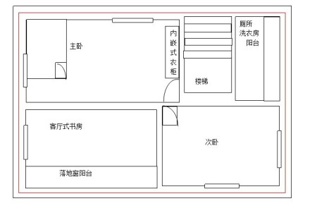 求长11米宽6米房屋设计图,我家在中间,两边都做了房,做两层,该怎么图片