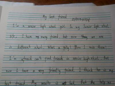 两篇高中英语高中不少于80个词作文作文行言与图片