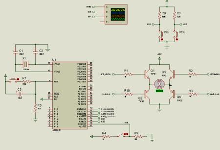 12V直流电机正反转控制电路图片